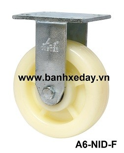 banh-xe-day-cong-nghiep-nylon-trang-cang-thep-co-dinh-a6-nid-f